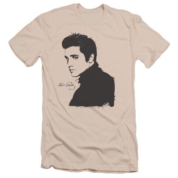 Elvis Black Paint Short Sleeve Adult T-Shirt