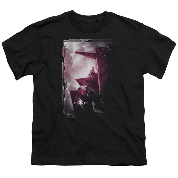 Power Rangers Pink Zord Poster Short Sleeve Youth T-Shirt