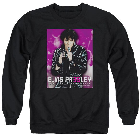 Elvis 35 Leather Adult Crewneck Sweatshirt