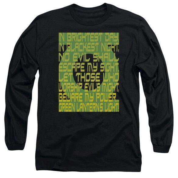 Green Lantern Green Lantern Oath Long Sleeve Adult T-Shirt