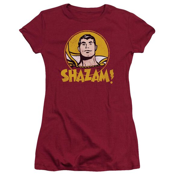 Dc Shazam Circle Short Sleeve Junior Sheer T-Shirt