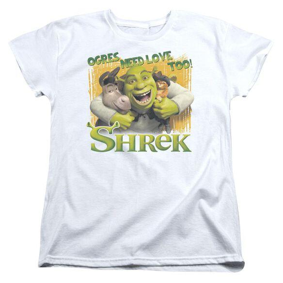 Shrek Ogres Need Love Short Sleeve Womens Tee T-Shirt