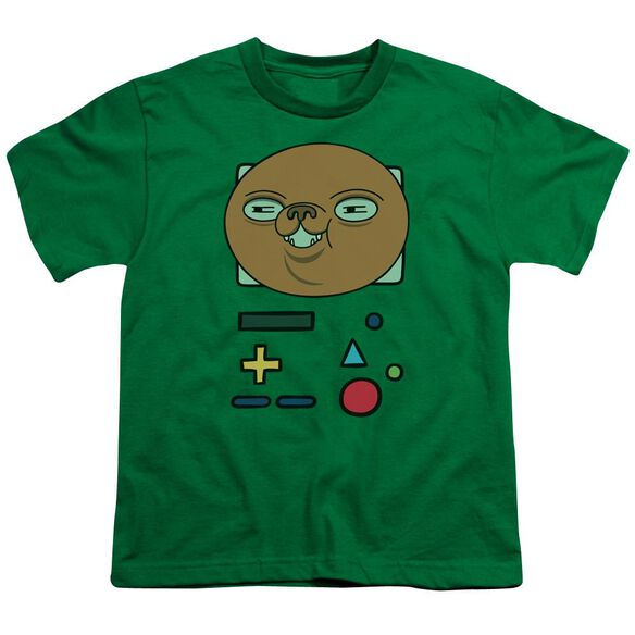Adventure Time Bmo Mask Short Sleeve Youth Kelly T-Shirt
