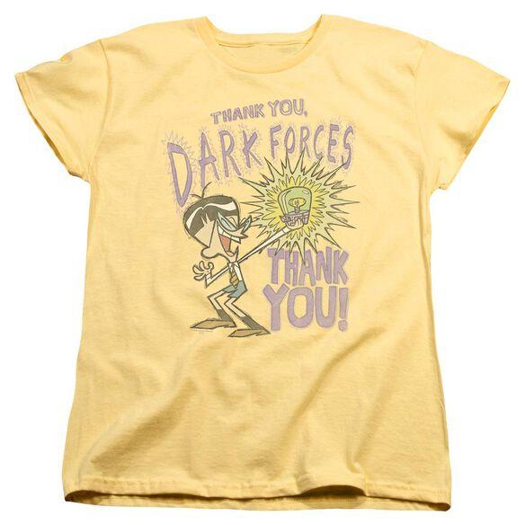Dexters Laboratory Dark Forces Short Sleeve Womens Tee T-Shirt
