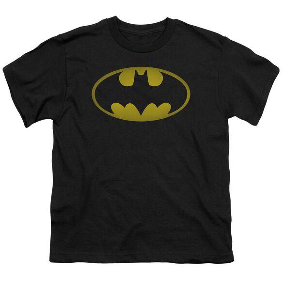 Batman Washed Bat Logo Short Sleeve Youth T-Shirt
