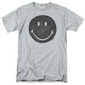 Smiley World Rough Face Short Sleeve Adult Athletic Heather T-Shirt