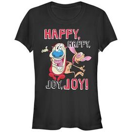 Ren and Stimpy Happy Joy Duo Juniors T-Shirt