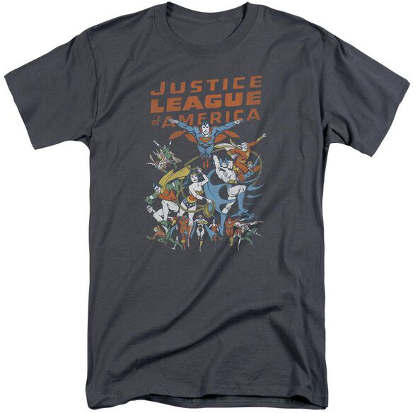 Jla Big Group Short Sleeve Adult Tall T-Shirt
