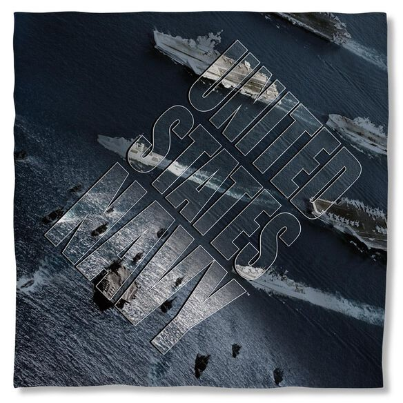 Navy Fleet Bandana White