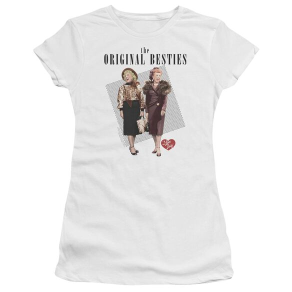I Love Lucy Original Bestie Hbo Short Sleeve Junior Sheer T-Shirt