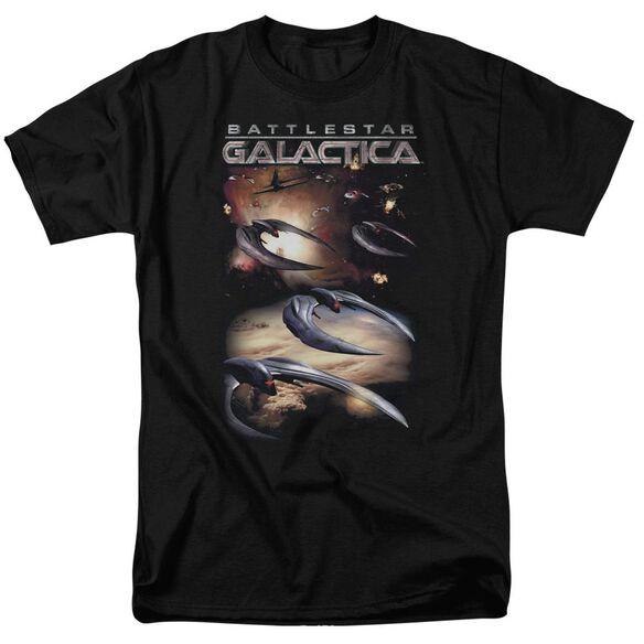 Battlestar Galactica (New) When Cylons Attack Short Sleeve Adult T-Shirt