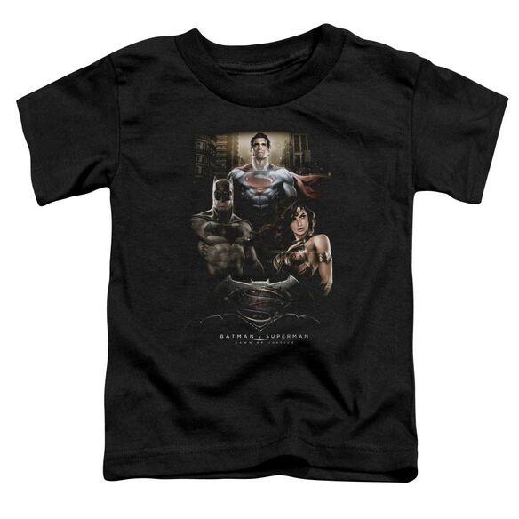 Batman V Superman Thre Three Short Sleeve Toddler Tee Black T-Shirt