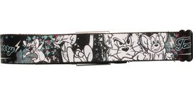 Tom and Jerry Black and White Seatbelt Mesh Belt