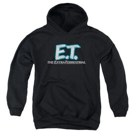 Et Logo - Youth Pull-over Hoodie - Black - Xl