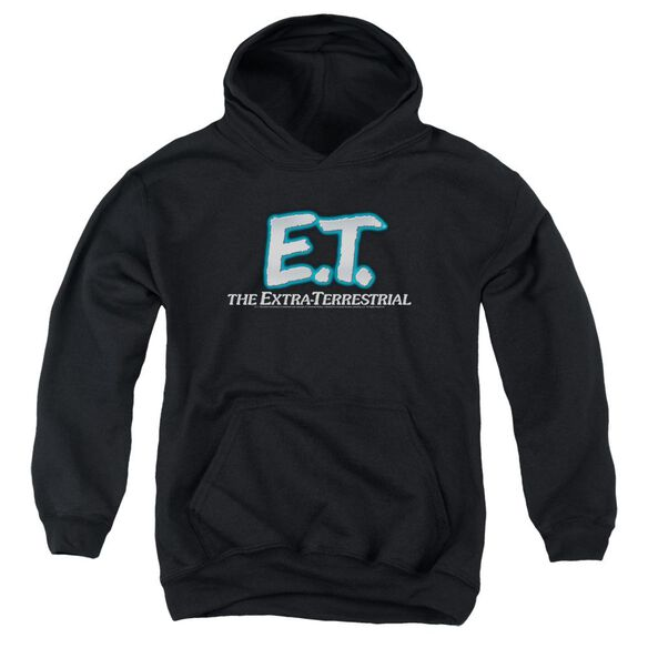 Et Logo - Youth Pull-over Hoodie - Black - Sm - Black