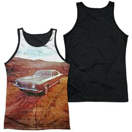 Chevrolet Monte Carlo Old Photo Adult Poly Tank Top Black Back