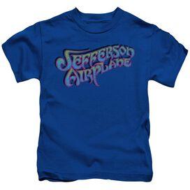 Jefferson Airplane Gradient Logo Short Sleeve Juvenile Royal T-Shirt