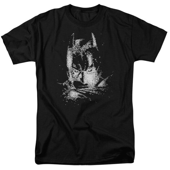 Dark Knight Batman Bat Head Short Sleeve Adult Black T-Shirt