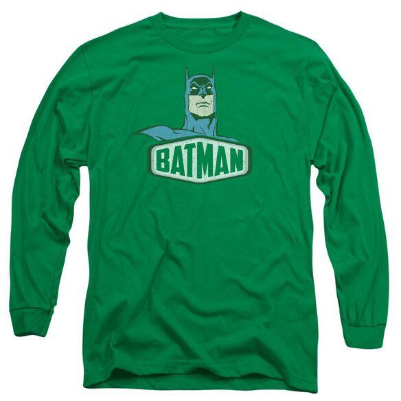 Dco Batman Sign Long Sleeve Adult Kelly T-Shirt