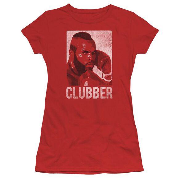 Rocky Iii Clubber Lang Short Sleeve Junior Sheer T-Shirt