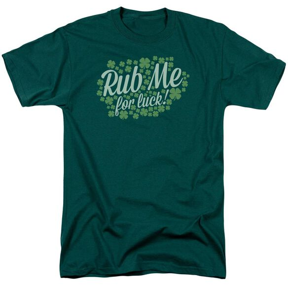 Rub Me Short Sleeve Adult Hunter Green T-Shirt
