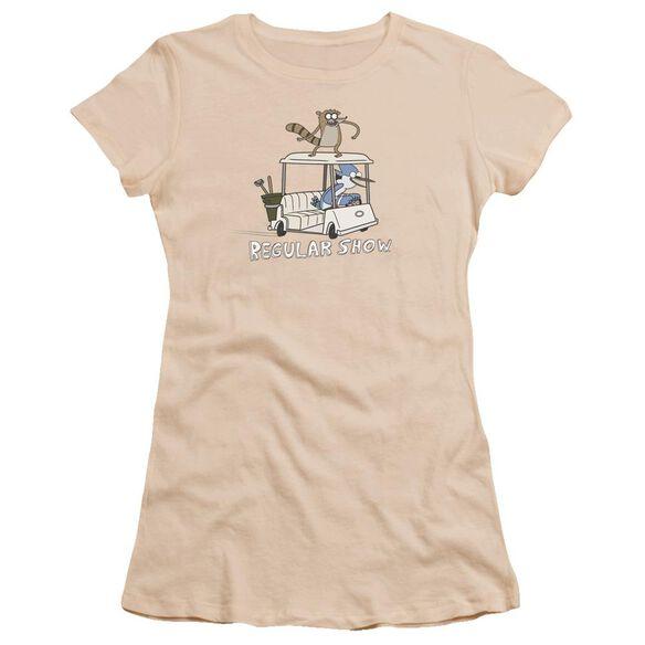 Regular Show Golf Cart Hbo Short Sleeve Junior Sheer T-Shirt