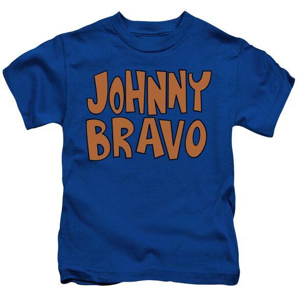 Johnny Bravo Jb Logo Short Sleeve Juvenile Royal Blue T-Shirt