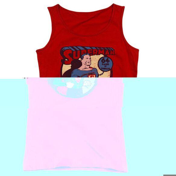 Dc Superman 64 - Juniors Tank Top - Red