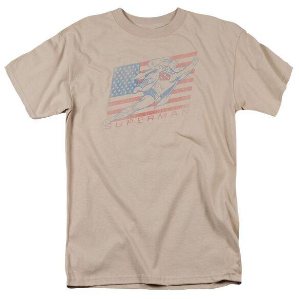 Superman Vintage Short Sleeve Adult Sand T-Shirt