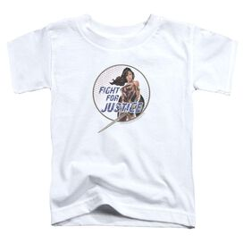 Wonder Woman Movie Fight For Justice Short Sleeve Toddler Tee White T-Shirt