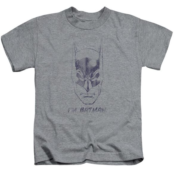 Batman I'm Batman Short Sleeve Juvenile Athletic T-Shirt