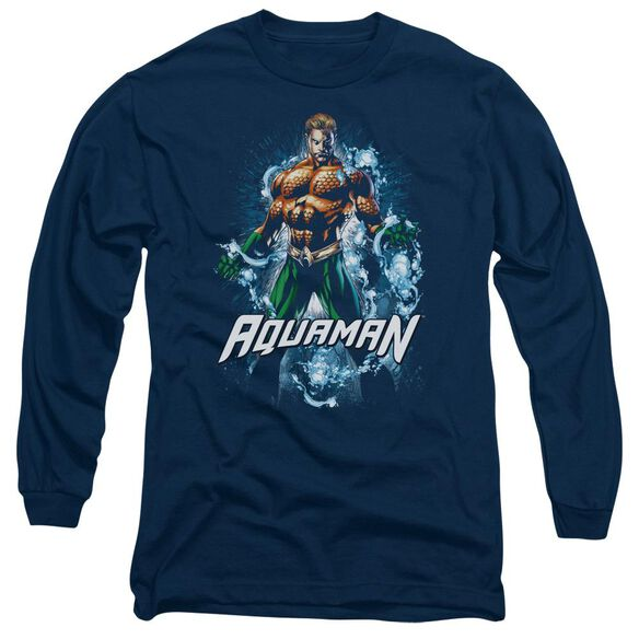 Jla Water Powers Long Sleeve Adult T-Shirt