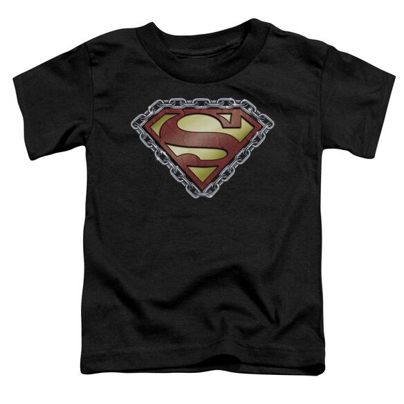 Superman Chained Shield Short Sleeve Toddler Tee Black Sm T-Shirt