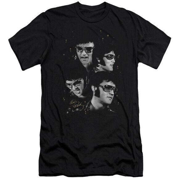 Elvis Faces Short Sleeve Adult T-Shirt
