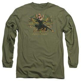 Hobbit Tauriel Long Sleeve Adult Military T-Shirt