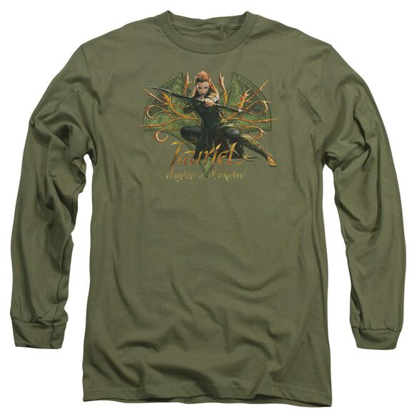 Hobbit Tauriel Long Sleeve Adult Military T-Shirt