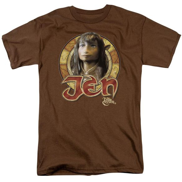Dark Crystal Jen Circle Short Sleeve Adult Coffee T-Shirt