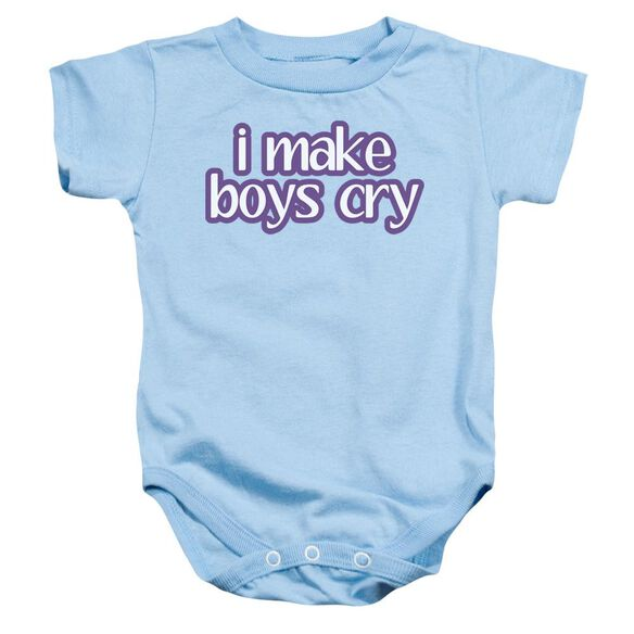 I Make Boys Cry Infant Snapsuit Light Blue Lg