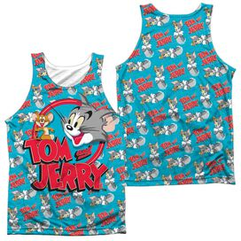 Tom And Jerry Double Trouble (Front Back Print) Adult Poly Tank Top