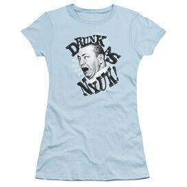 Three Stooges Drunk Short Sleeve Junior Sheer Light T-Shirt