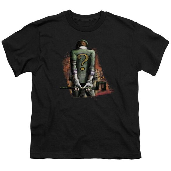 ARKHAM CITY RIDDLER CONVICTED - S/S YOUTH 18/1 - BLACK T-Shirt