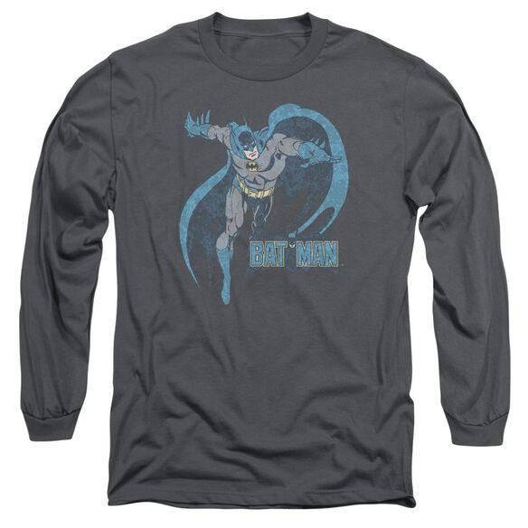 Dco Desaturated Batman Long Sleeve Adult T-Shirt