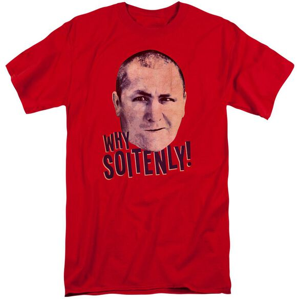 Three Stooges Why Soitenly Short Sleeve Adult Tall T-Shirt