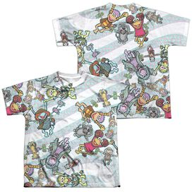 Fraggle Rock Cyclone (Front Back Print) Short Sleeve Youth Poly Crew T-Shirt