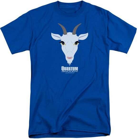Quantum And Woody Goat Head Short Sleeve Adult Tall Royal T-Shirt