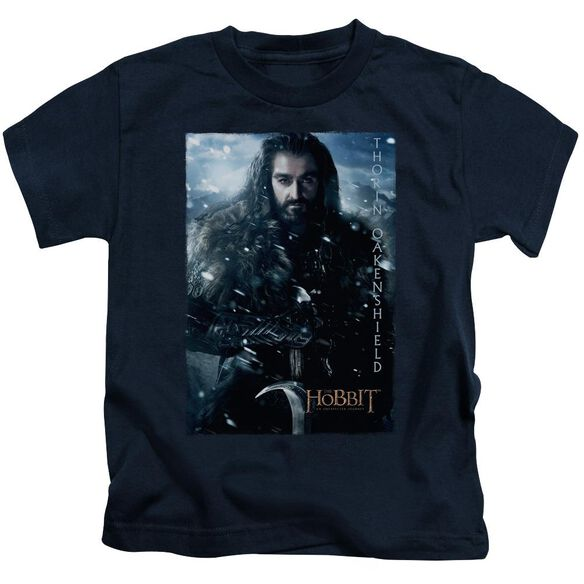 The Hobbit Thorin Poster Short Sleeve Juvenile Navy T-Shirt