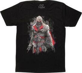 Assassins Creed Ezio Auditore Black T-Shirt Sheer