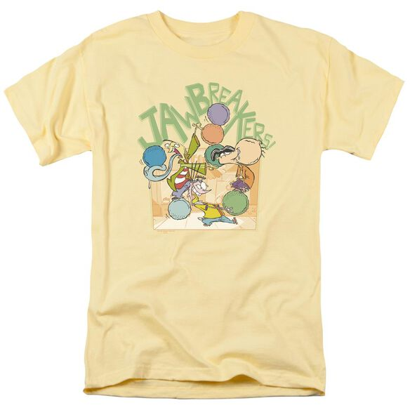 Ed Edd N Eddy Jawbreakers Short Sleeve Adult Banana T-Shirt