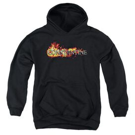 Constantine Logo In Flames Youth Pull Over Hoodie