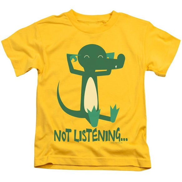 Not Listening Short Sleeve Juvenile Yellow T-Shirt